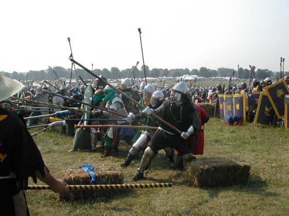 the SCA Demo - Stick Fighting, Combat Archery, Rapier and Fencing