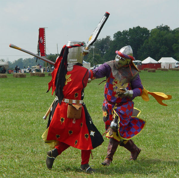 the SCA Demo - Stick Fighting, Combat Archery, Rapier and